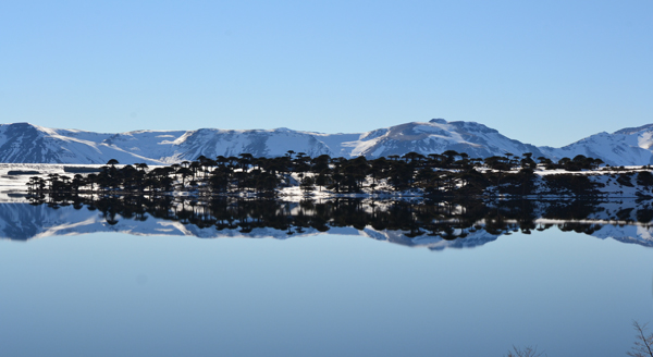 Lago Caviahue/Otra vista en espejo